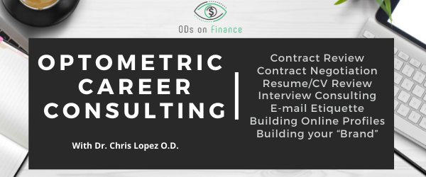 Optometric Career Consulting Chris Lopez HOME AD