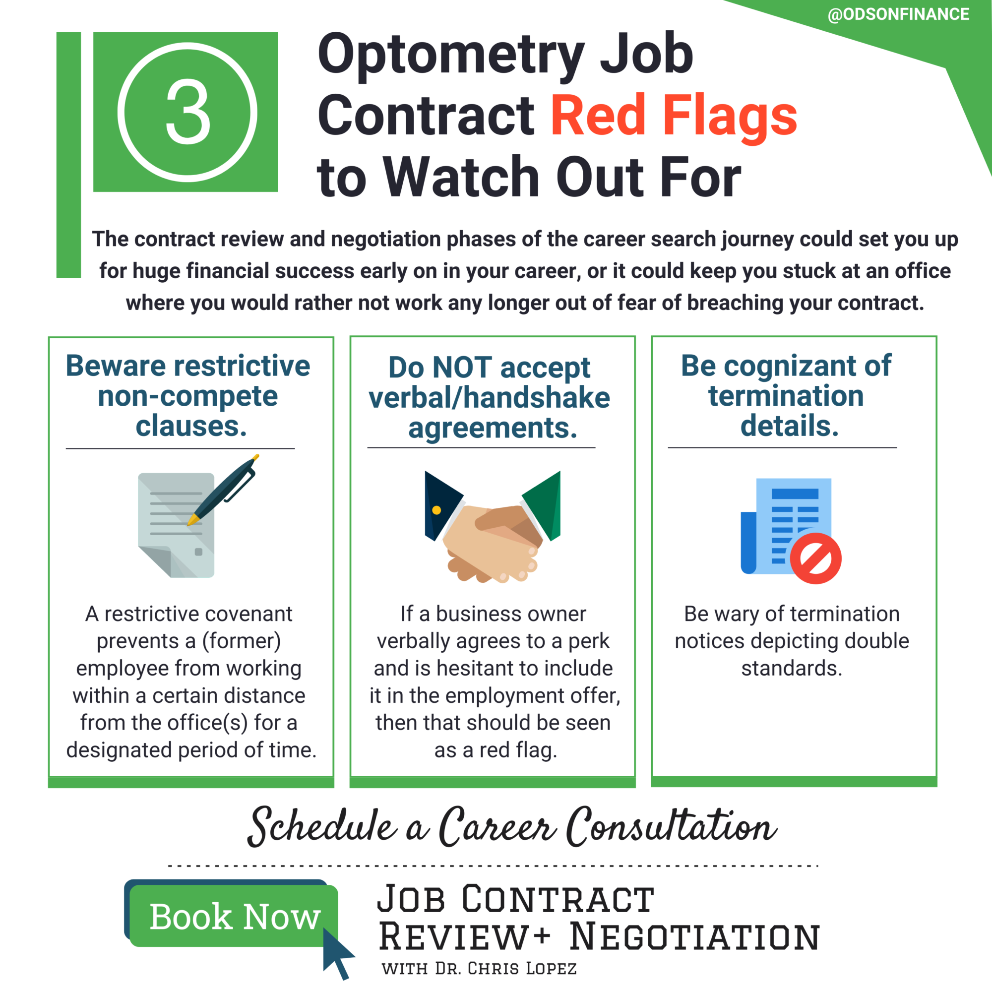 Optometry Job Contract Red Flags to Watch Out For